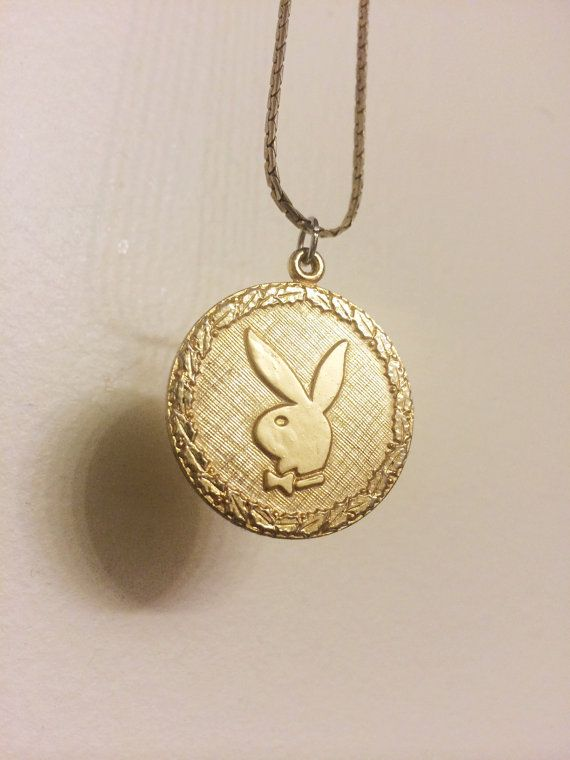 Playmate necklace vintage 70s disco gold tone playboy bunny playmate necklace vintage 70s disco gold tone playboy bunny necklace playboy pendant playgirl aloadofball Image collections