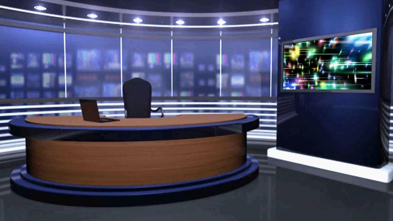 Virtual Studio Green Screen Video Tv Studio Background Animation