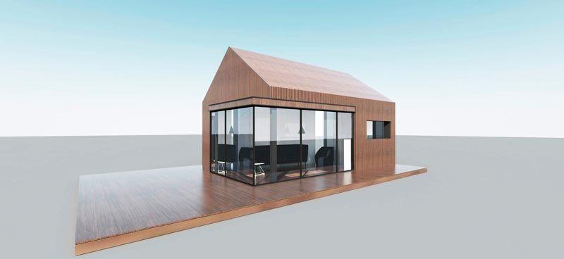 Сборный дом Modern-B 22 может использоваться как мини офис