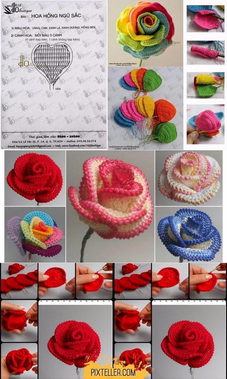 Photo of Crochet pretty roses