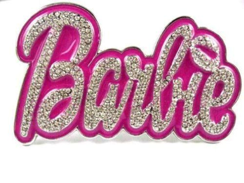 New Iced Out Nicki Minaj Barbie Pink Buckle For Belt Silver