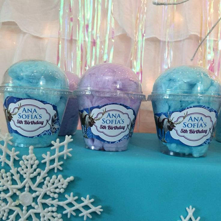 Cotton Candy Frozen Themed Birthday Party Frozen Theme Party Frozen Party Favors