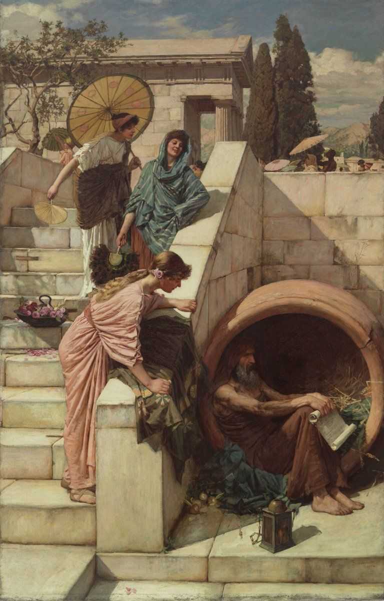 Diogenes. John William Waterhouse, 1882
