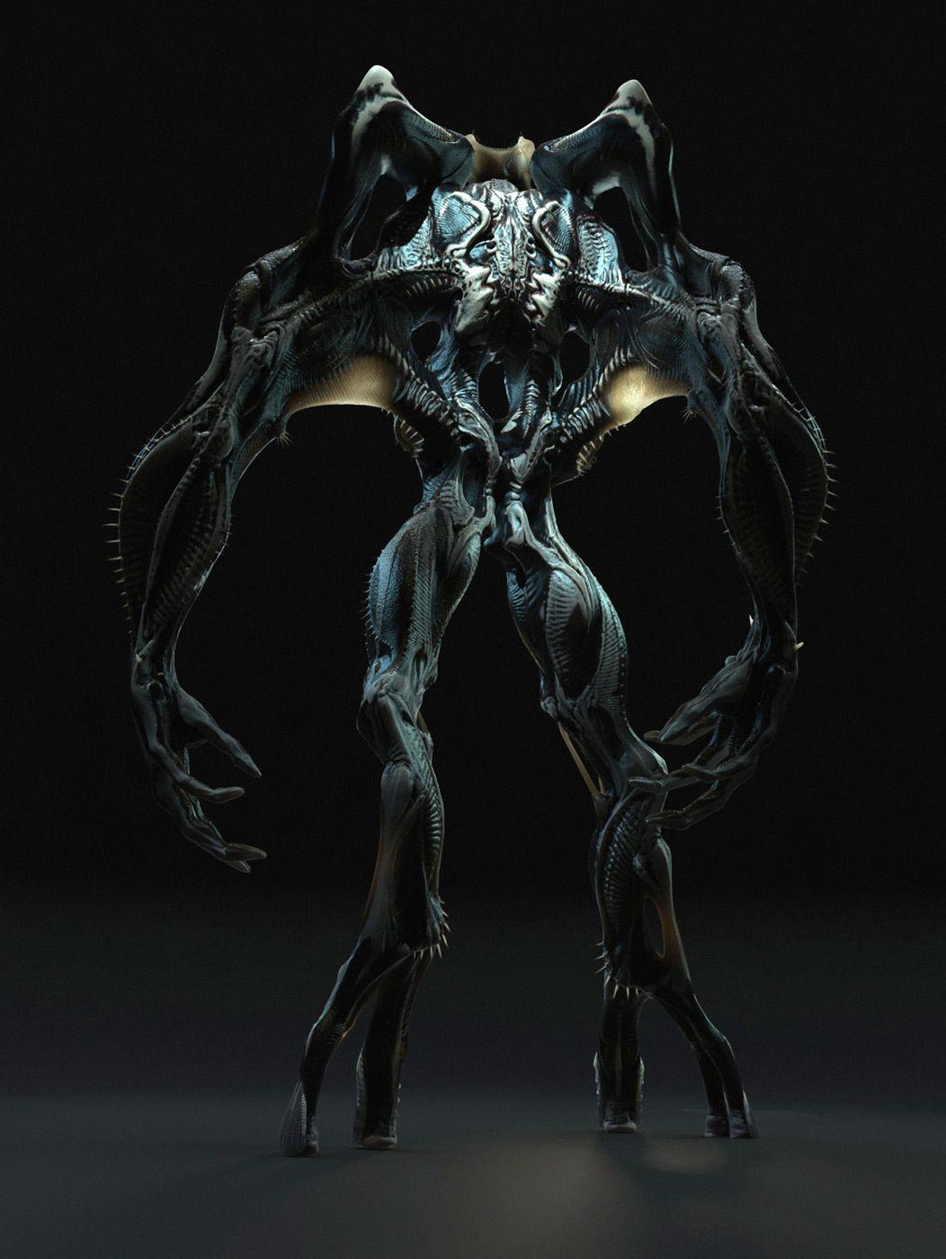 Is this Concept Art for J.J. Abrams Big Bad Alien from ... |Super 8 Alien Design