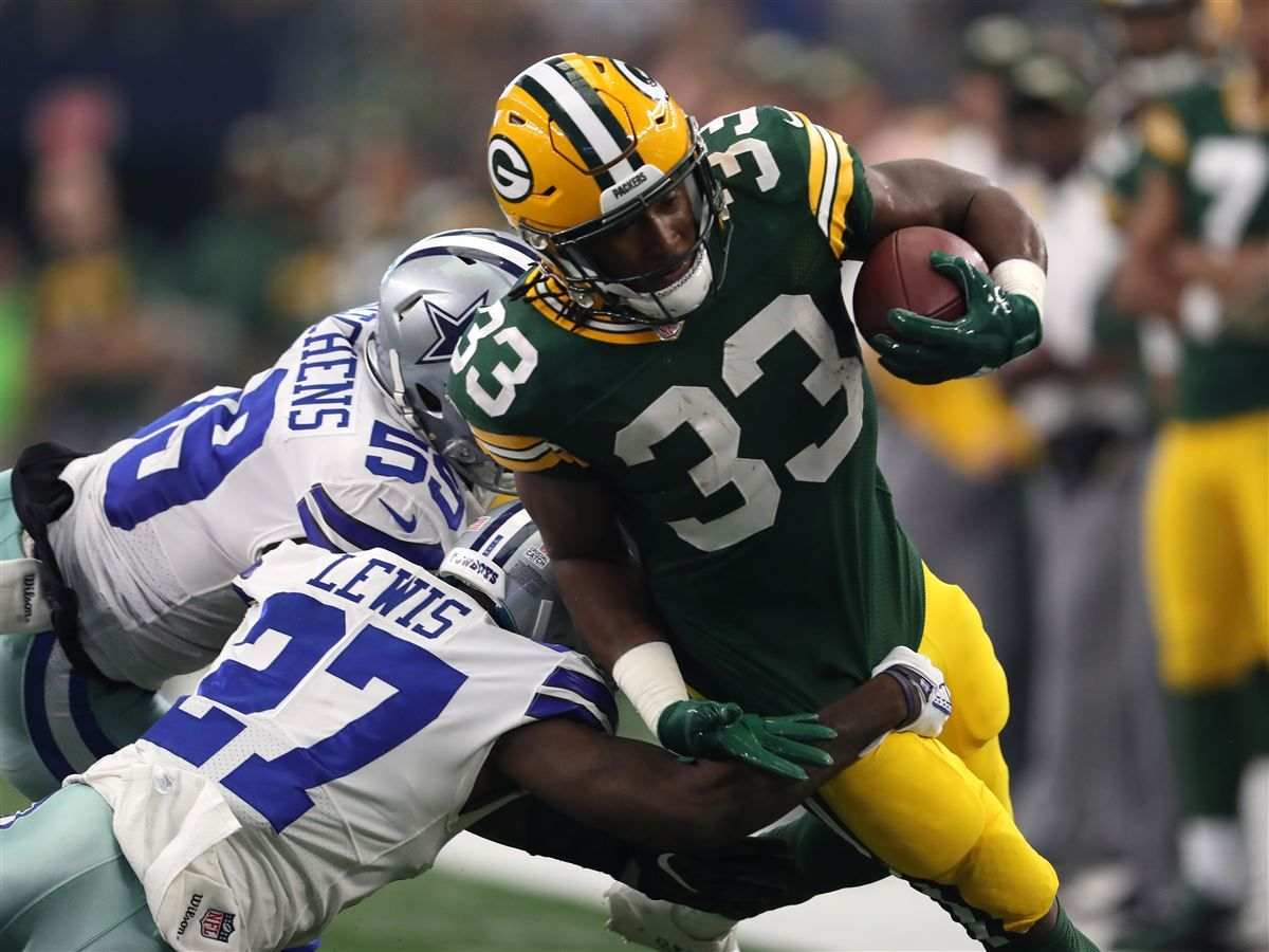 Rb Aaron Jones Five Highest Graded Packers In Week Five Vs Cowboys Fantasy Football Football Football Awards