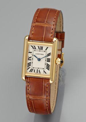 abc9519d2ee CARTIER Ladies Tank Francaise Leather Watch Relógio Feminino