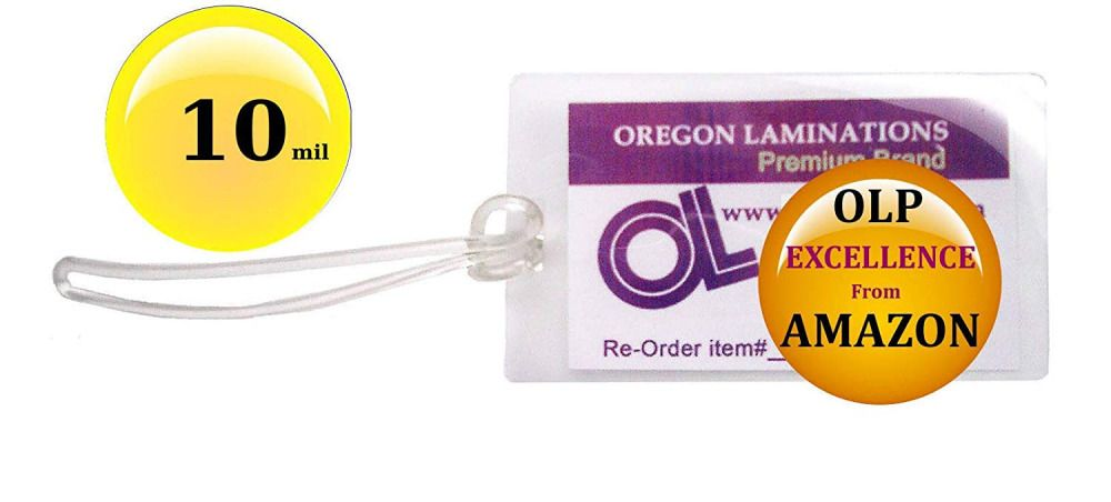 Ebay Sponsored Qty 100 Of Each 10 Mil Luggage Tag Laminating Pouches 6 Inch Loops 2 1 2 X 4 Pouch Slot Best Carry On Luggage