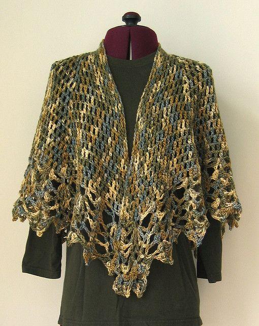 All Shawl pattern by Doris Chan | Chal, Ponchos y Capilla