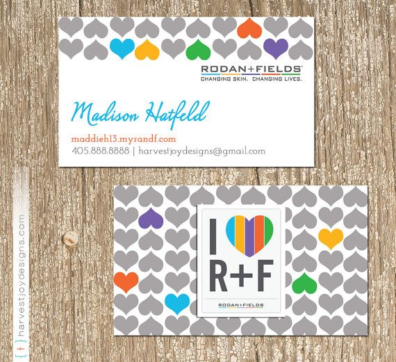 Rodan And Fields Business Card I Love RF Direct Sales Rodan