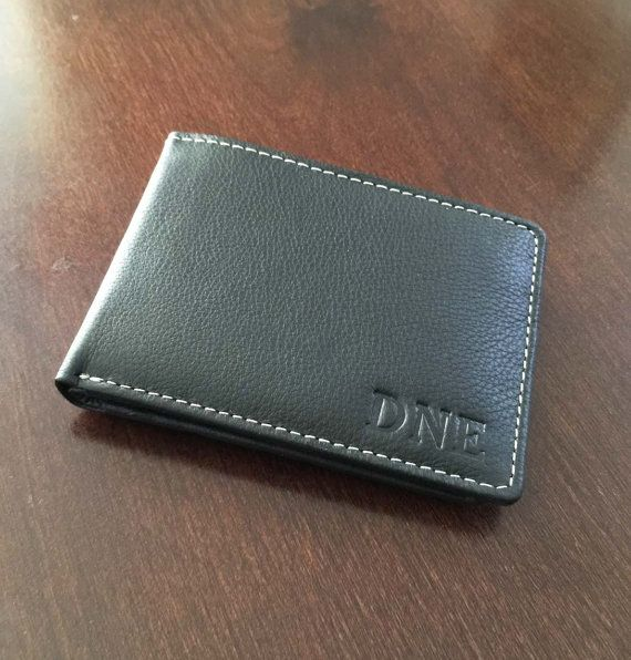 Personalized Genunie Leather Wallet Engraved Leather Wallet