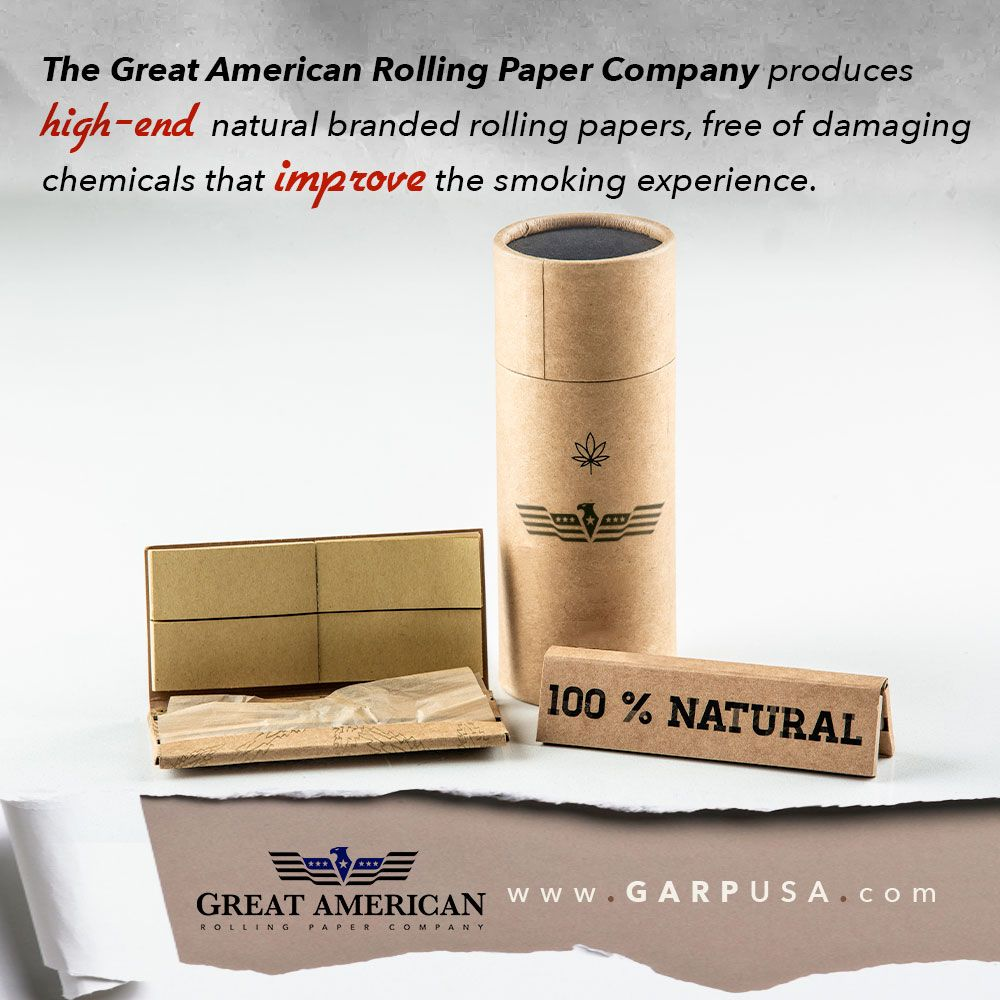 Can You Get High From Smoking Paper Great American Rolling Paper Company Produces High End Natural Branded Rolling Papers Free Of Damaging Chemicals T Rolling Paper Paper Companies Company Paper