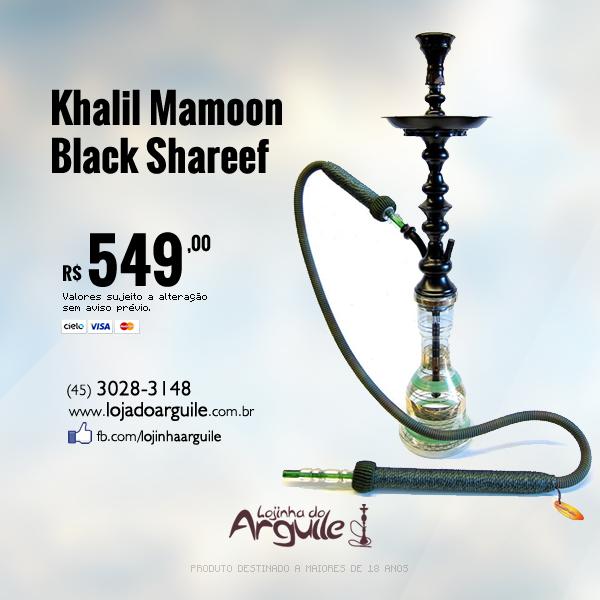 Khalil Mamoon Black Shareef De R$ 699,00 / Por R$ 549,00 Em até 6x de R$ 99,28 ou R$ 521,55 via depósito  Confira em: http://www.lojadoarguile.com.br/khalil-mamoon-black-shareef
