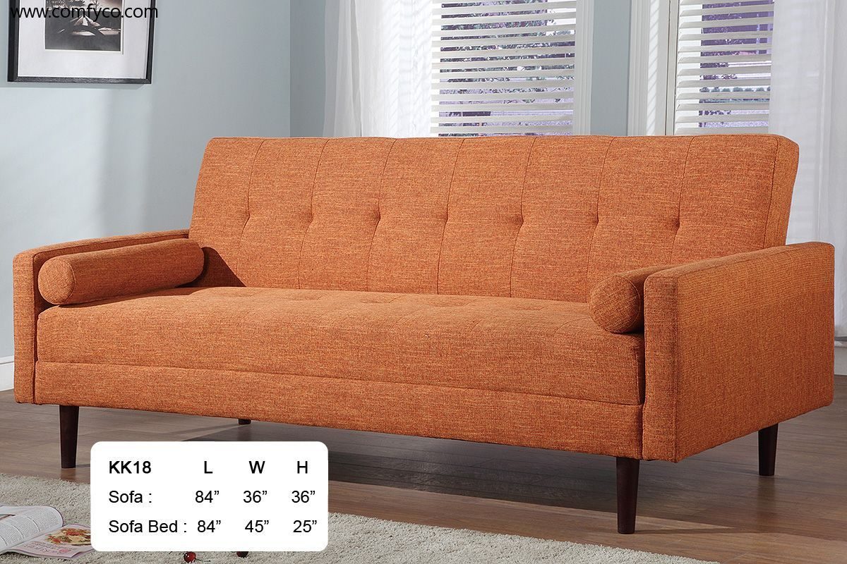 Ah18 Orange Sofa Bed With Images