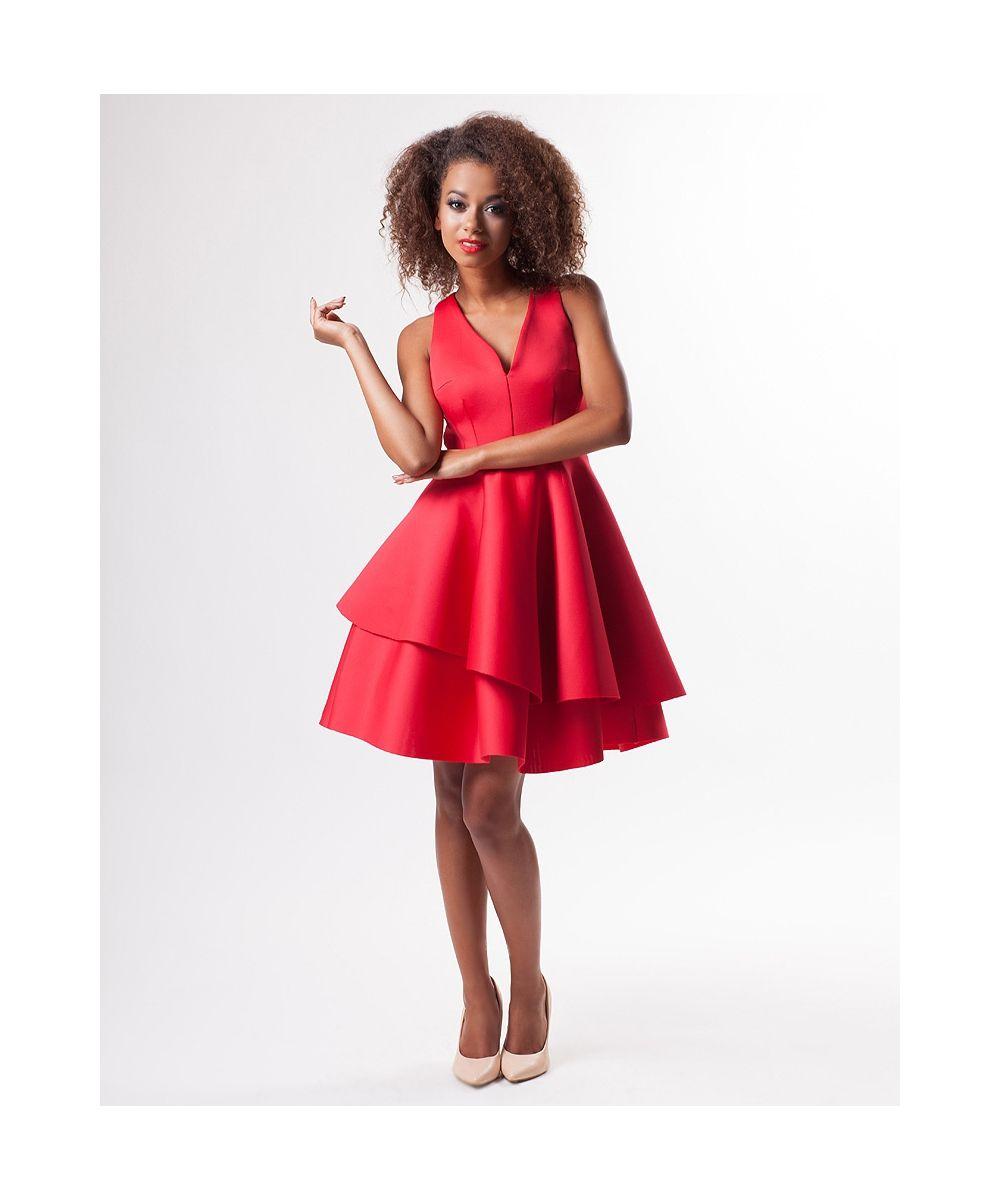 Rozkloszowana Sukienka Z Neoprenu Dresses Backless Dress Fashion