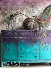 Whimsical Hand Painted Bohemian Buffet Sideboard