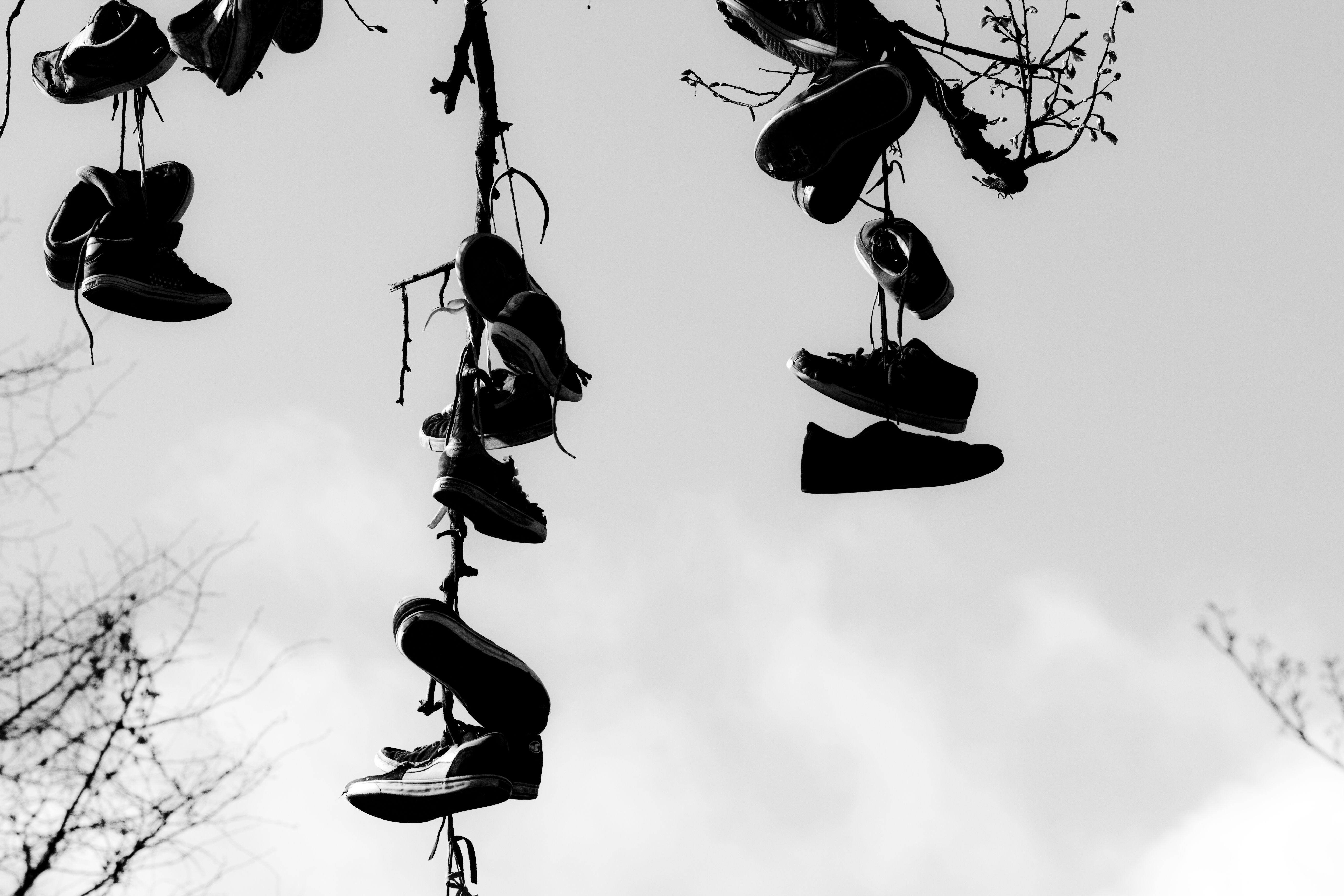 Shoefiti @ Enghaveplads Copenhagen