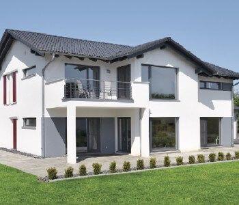 AuBergewohnlich Hauskonzept Wohnen Und Arbeiten_WeberHaus_Gartenansicht