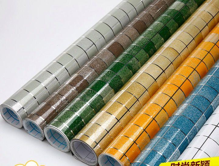 Aluminum Foil Diy Wall Art Aliexpress Com Buy 45x70cm Mosaic Aluminum Foil Self Adhensive Anti Kitchen Wall Stickers Wall Stickers Tile Wallpaper