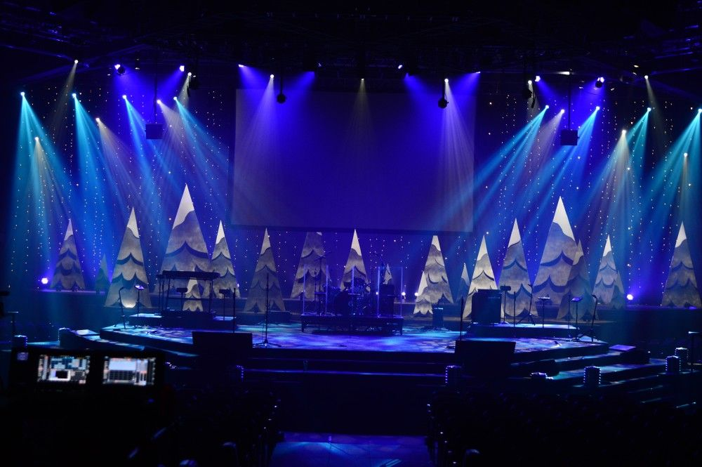 Flowing Trees from New Life Church in Colorado Springs CO | Church Stage Design Ideas & Flowing Trees from New Life Church in Colorado Springs CO | Church ...