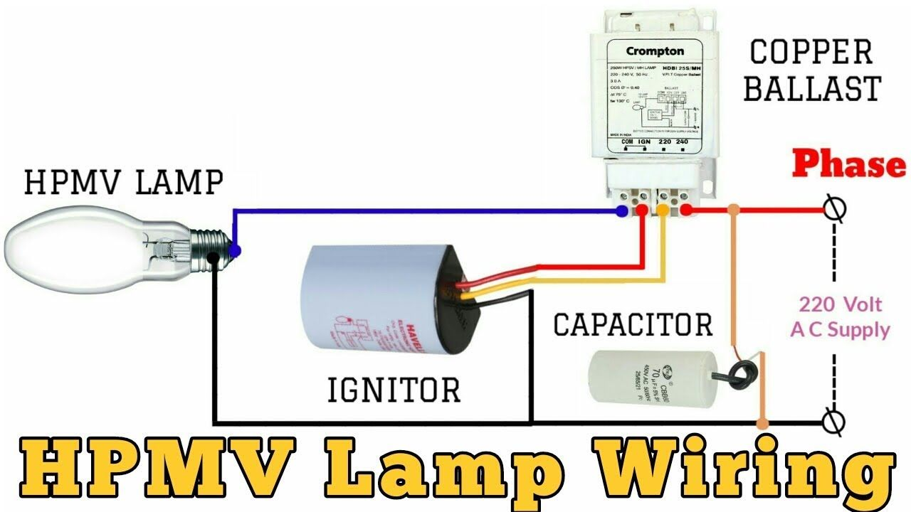 Hpmv Lamp क व यर ग क स कर Lamp Connection With Ballast And Ignito Lamp Wire Lamp Ballast