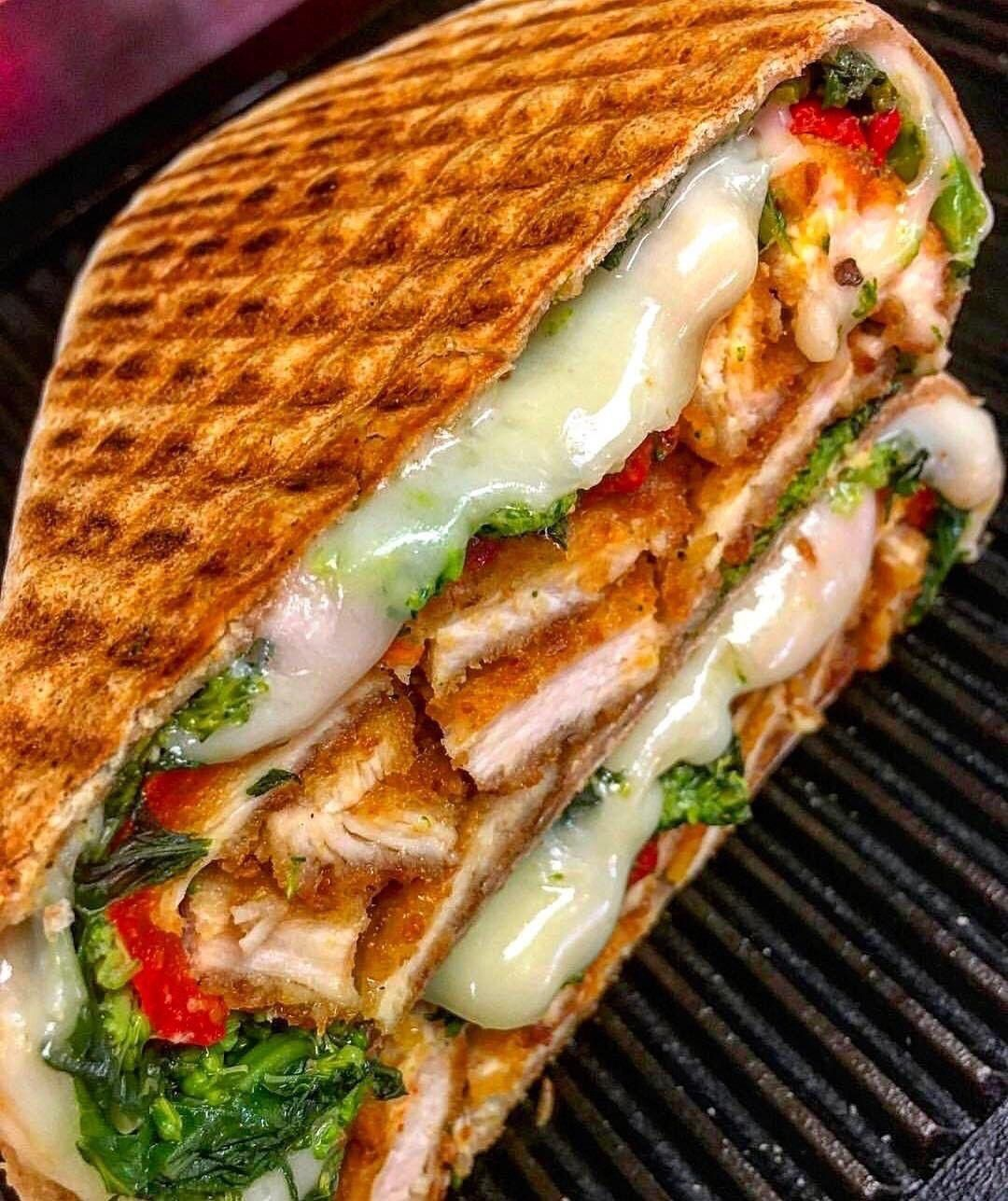NYC Crispy Chicken Paninininini food street videos cooking