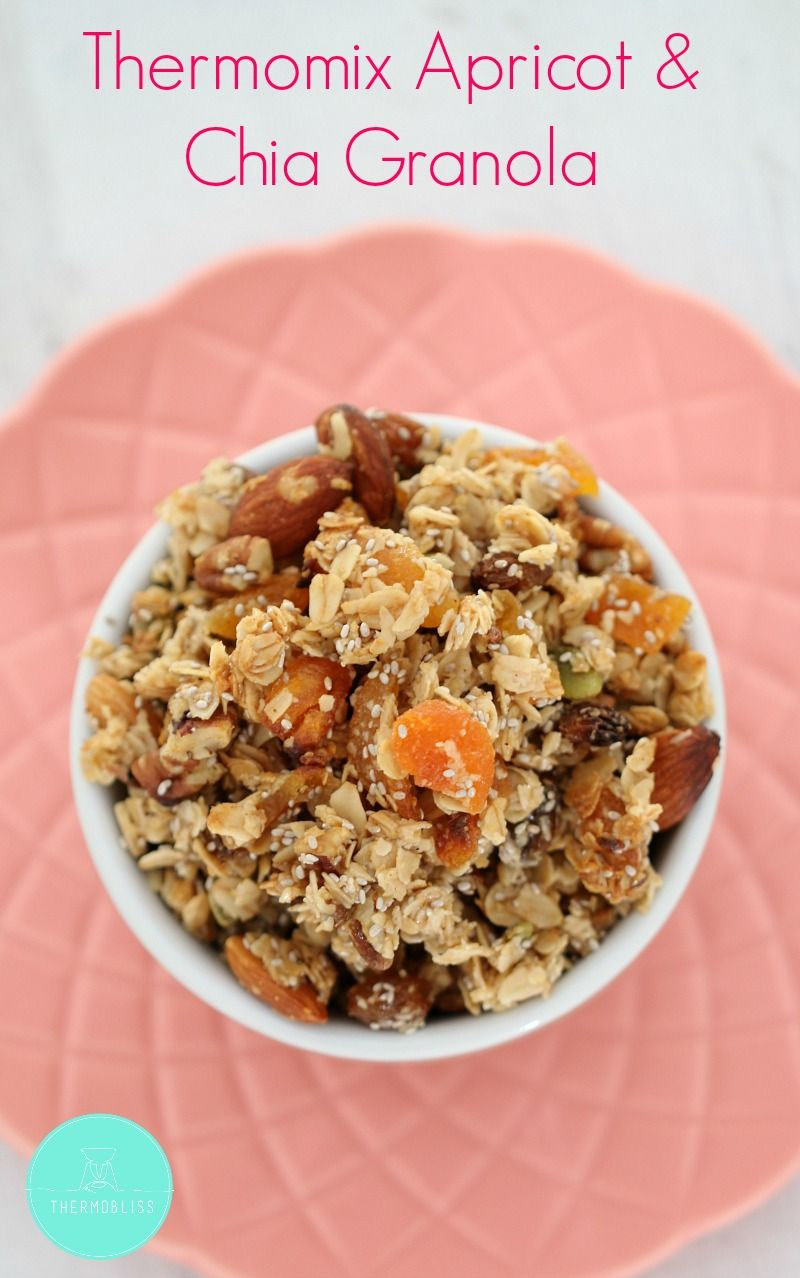 Our Thermomix Apricot & Chia Granola is the perfect start to the day! Crunchy clusters... that are SO easy to make!