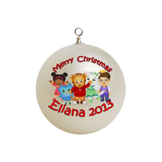 Personalized Daniel Tiger Christmas Ornament by ceramicpixel ...