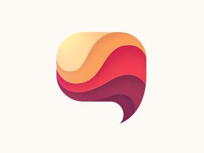 Speech Bubble Logo | App Icons | Logos, Communication logo
