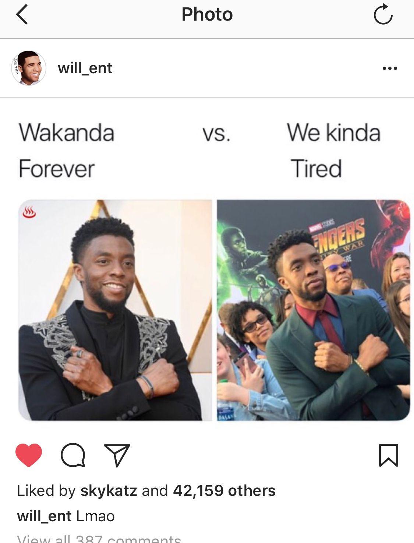 Wakanda Forever, Chadwick Boseman, Black Panther, T'Challa ...