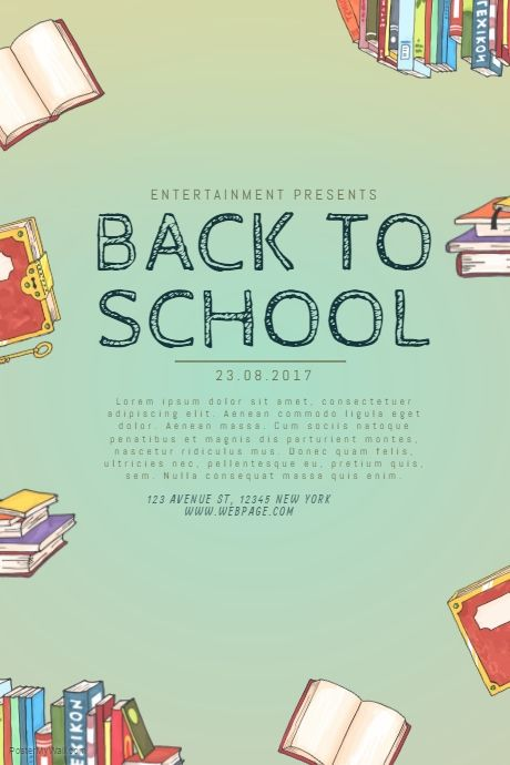 Back To School Flyer Template  Postermywall  Event Poster