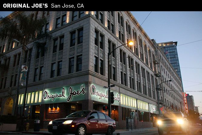 Original Joe S An Old School Italian Restaurant In Downtown San Jose Ca