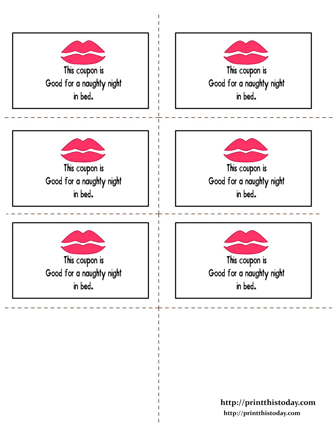Free printable romantic coupons