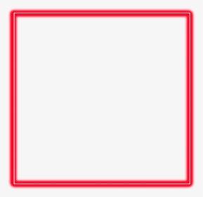 Neon Square Red Freetoedit Frame Border Geometric Symmetry Hd Png Download Frame Square Frames Red Frame