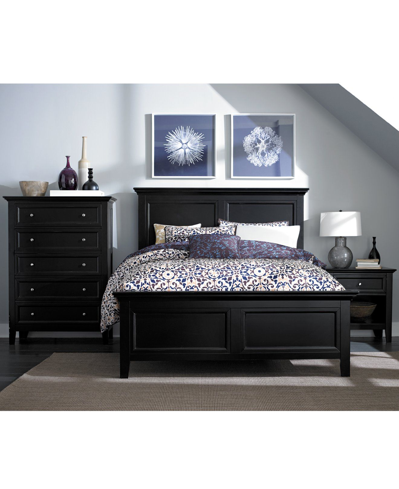 Captiva 5-Piece Queen Bedroom Set with Bachelors Chest - Bedroom