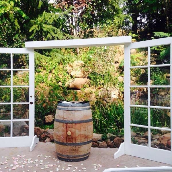 Outdoor Wedding Ceremony Doors: Our Open French Doors As The Ceremony Backdrop