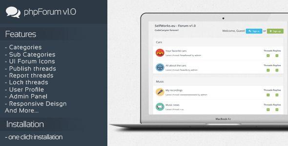 phpForum v1.0 - Social Forum Script (Social Networking) Download #admin #