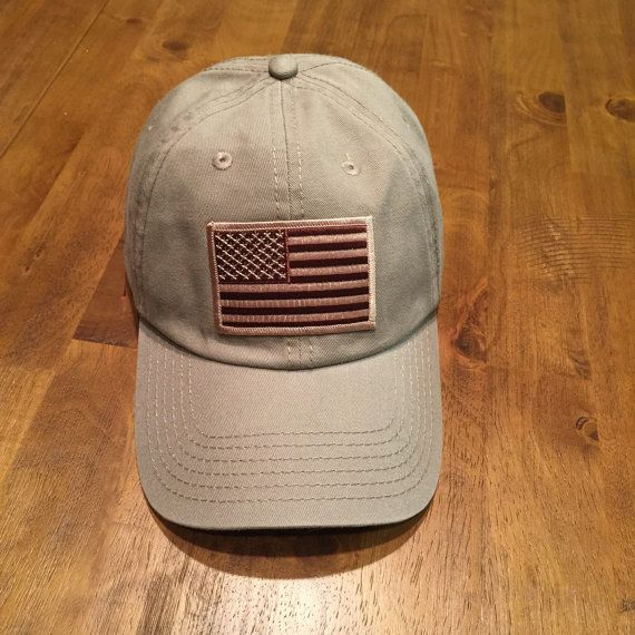DAD HAT Desert American Flag Tan Garment Washed Low Profile Hat ... 4a0b060b8016