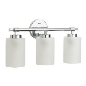 Bathroom Sconces Facing Up Or Down mirabelle 3 light 60w up/down facing bathroom vanity fixture | a