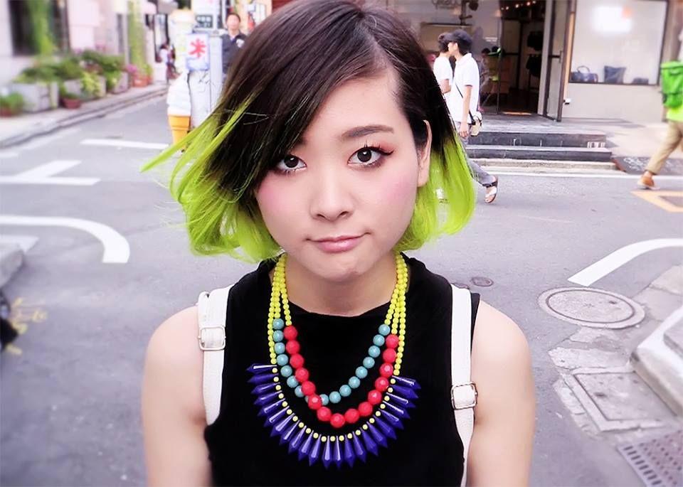 Lime Green Ends With Dark Hair Green Hair Neon Green Hair Neon Hair