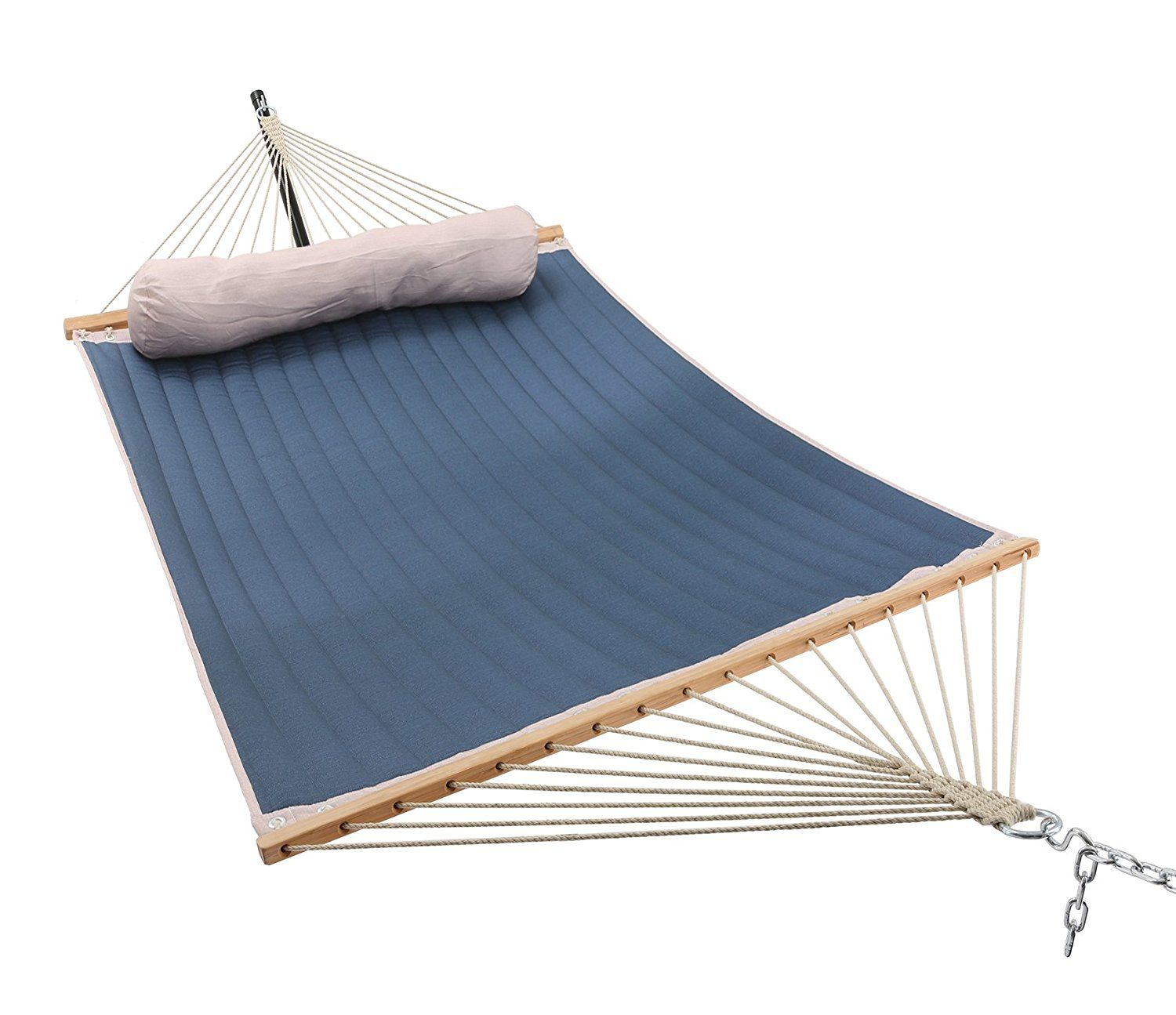 Patio watcher quilted hammock this rope hammock can be hung indoor