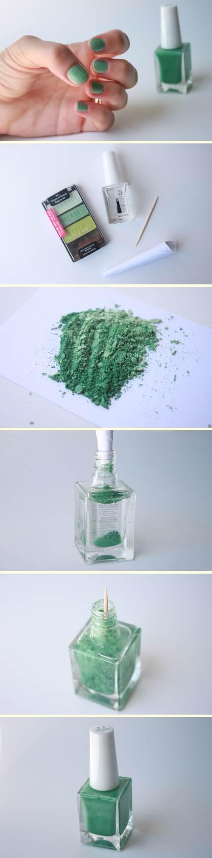 Nail Polish realizzato con ombretto