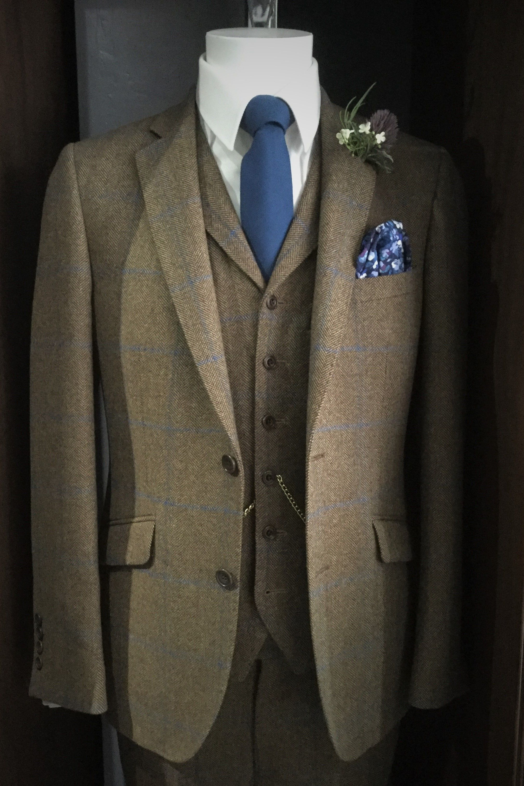 ed00723dbee1 Black Tie Menswear's award winning, exclusive house tweed option. Available  to hire and to