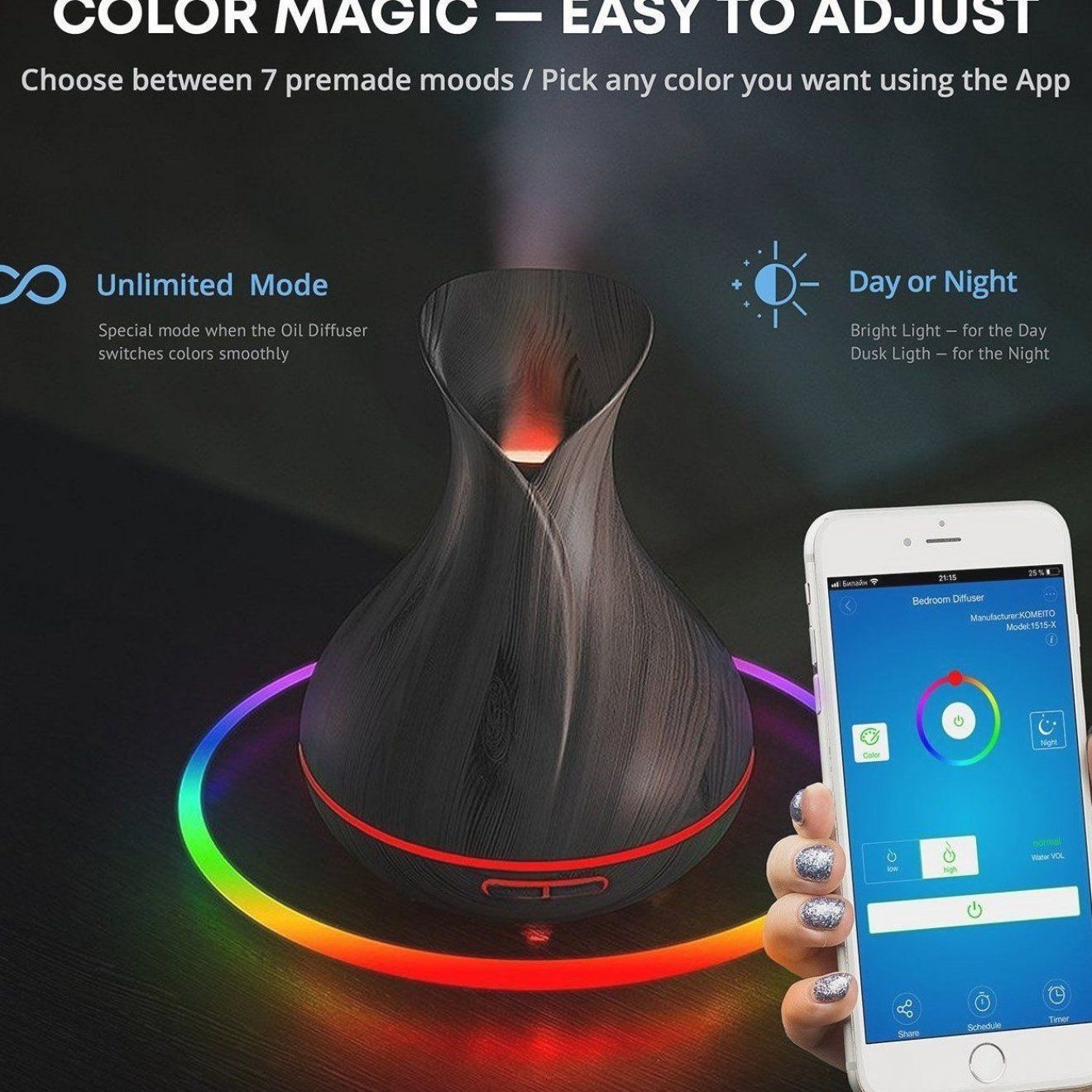 Wonderful Scents      Valentine Gift      WiFi Smart Home Essential Oil Diffuser  Alexa and Google Home  15  off   #FreeShip   #Valentine #ValentinesDay #ValentinesDay2020 #gifts #giftsforher #ValentinesDayGifts #gifts #giftsforher #essentialoils #scents #fragrance #aromas #diffuser #aromatherapy #selfcare #selflove  #healthy   #relax #Wellbeing #wellness #healthtips #natural #organic #essentialoil #candles #soywaxmelts #waxmelts #HimalayanSaltLamp #saltlamp #saltlamps