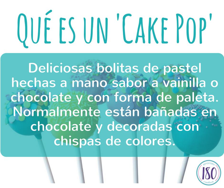 ¿Qué es un Cake Pop?