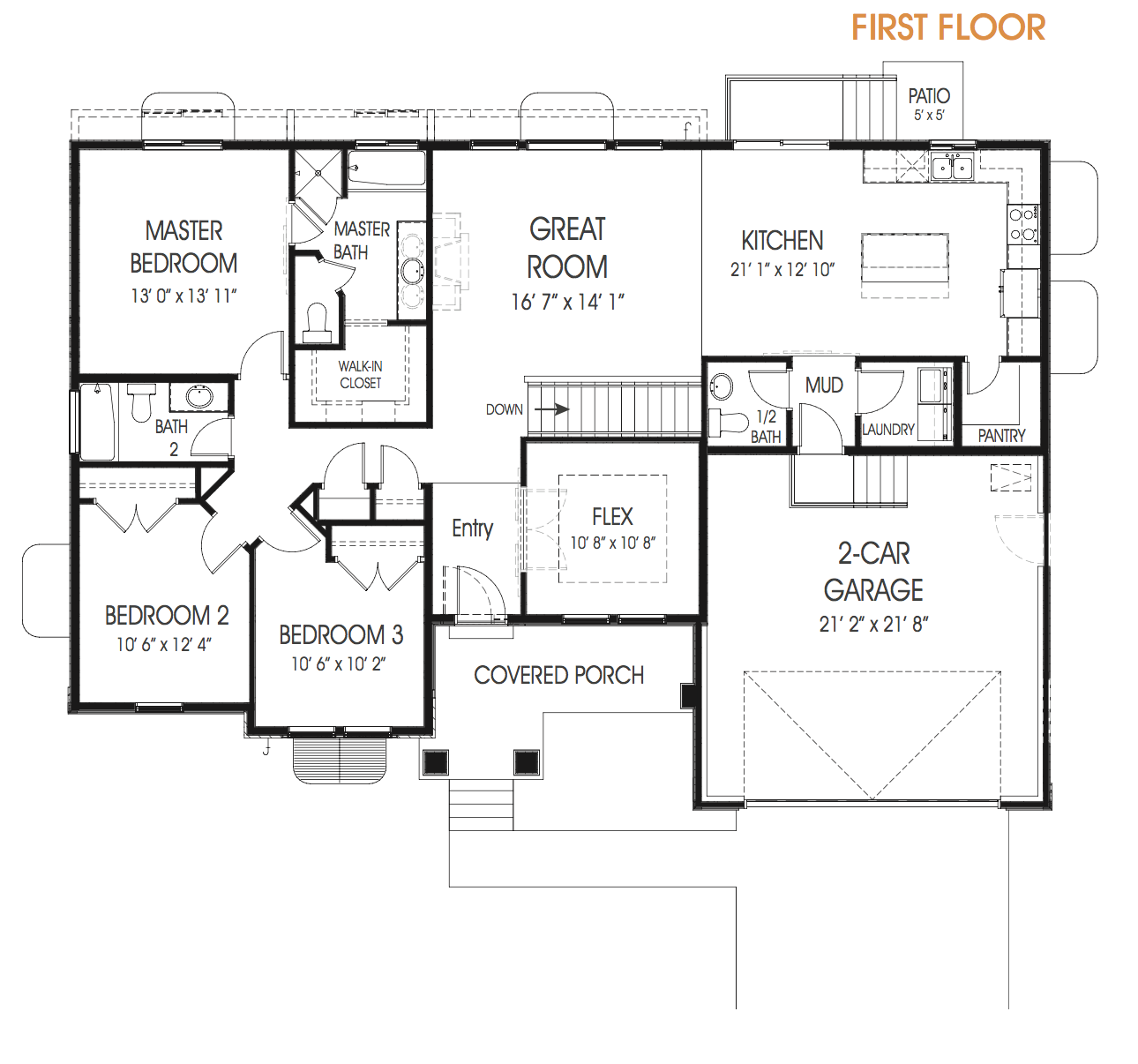 3 Bedroom Rambler Floor Plan For Your New Utah Home The Hailey Is Just What You Are Looking For In A Rambler C Floor Plans House Structure Design How To Plan