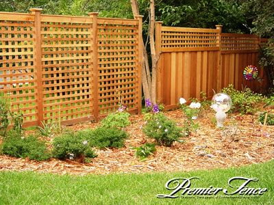 All Lattice Garden Square Fence Design Is Constructed With