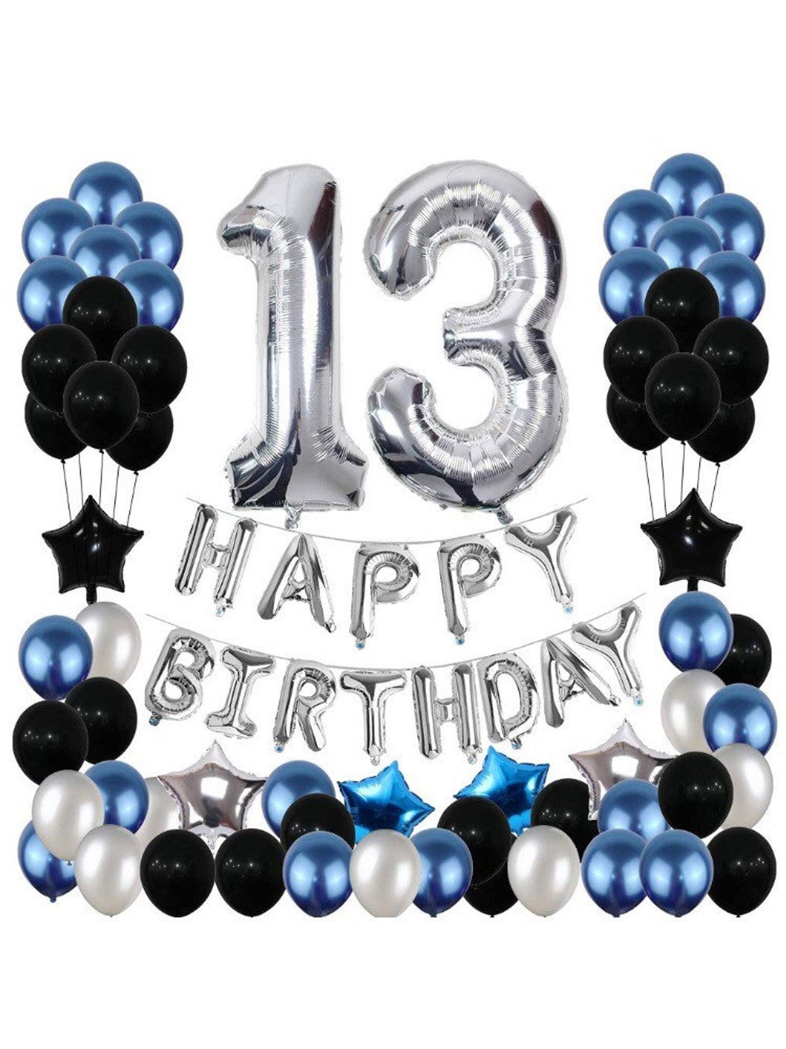 13th Birthday Decorations 13 Birthday Party Decoration Etsy In 2021 21st Birthday Decorations 21 Birthday Party Decorations Blue Party Decorations