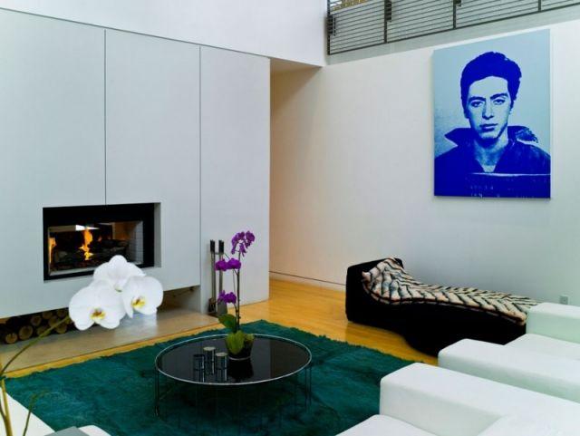 Wohnzimmer mit Kamin \u2013 65 Ideen für einen Ort der Ruhe Wohnzimmer