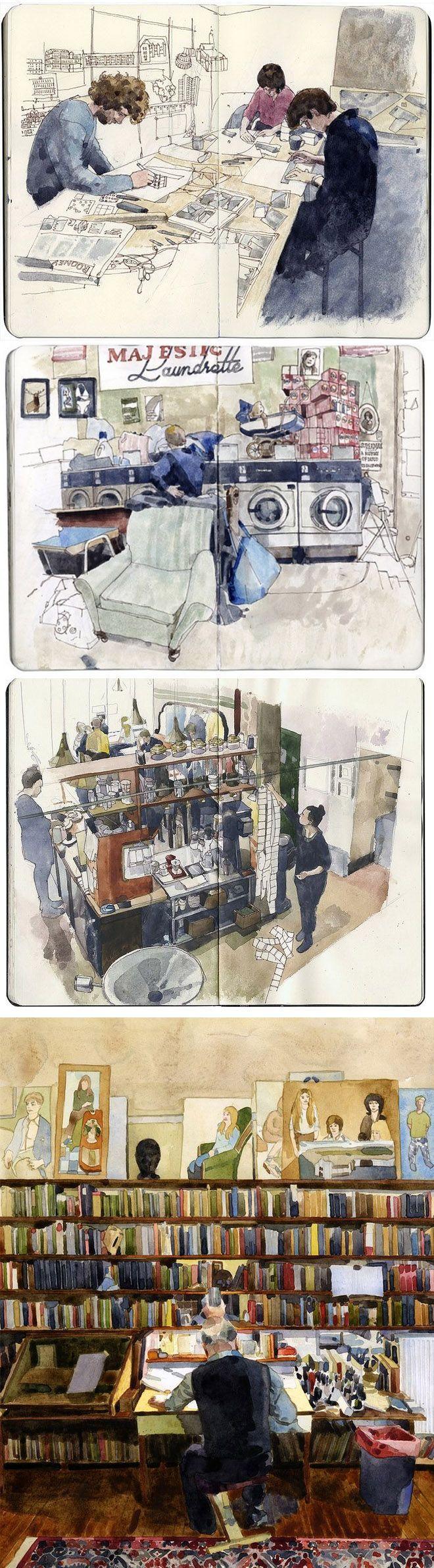 illustrated by Wil Freeborn #sketchbook #journal https://www.flickr.com/photos/ghostschool/