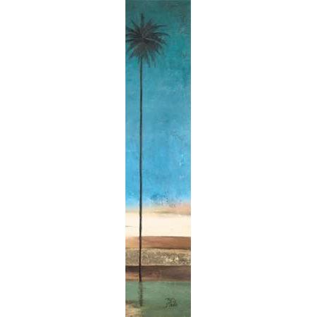 Posterazzi Thin Palms II - In Coastal Colors Canvas Art - Patricia Pinto (12 x 36)